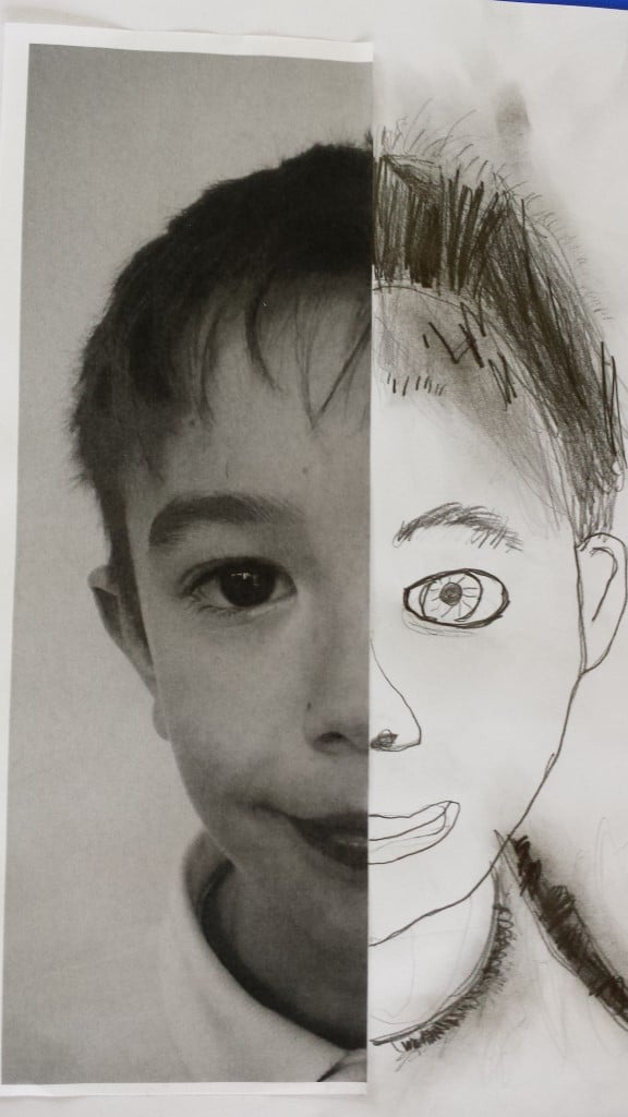how to draw a self portrait ks2