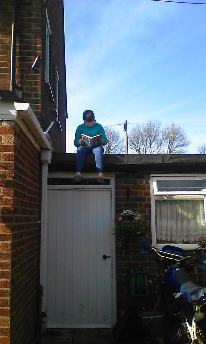world book day - reading in unusual places