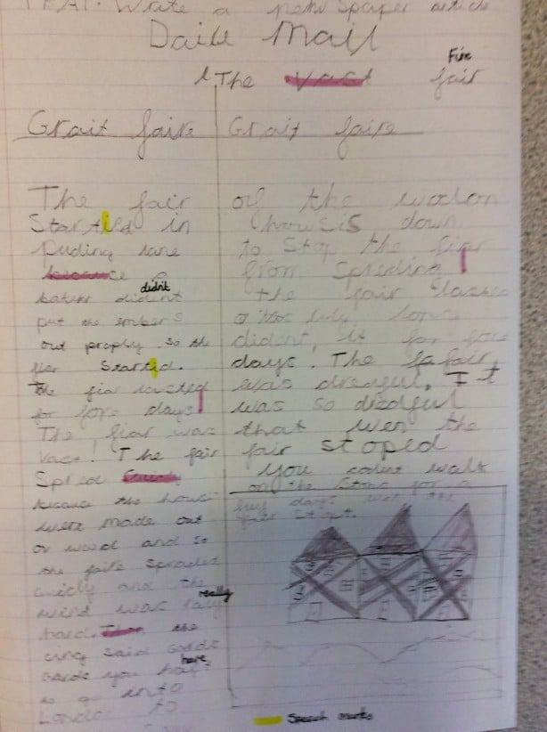 writing a newspaper report primary school Find a current story that interests you in a newspaper or think of a famous historical incident  school report's scriptwriting  lesson 3 - writing lesson 4.